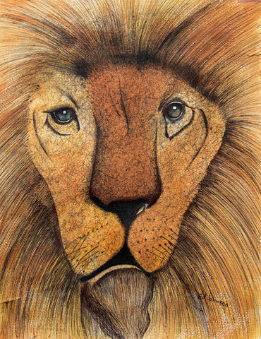 Brown Lion - ArtLifting