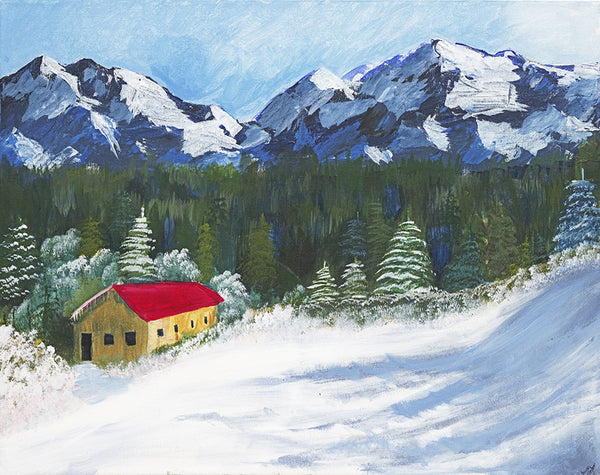 Switzerland Chalet - ArtLifting