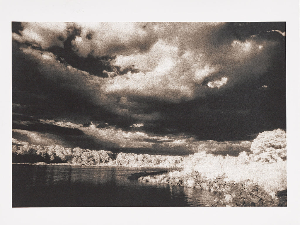Infrared Clouds and Shore - ArtLifting