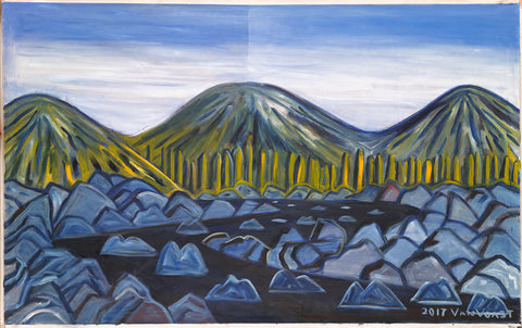 Mountain Stream Three Peaks - ArtLifting