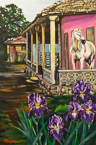 Horse on a Porch - ArtLifting