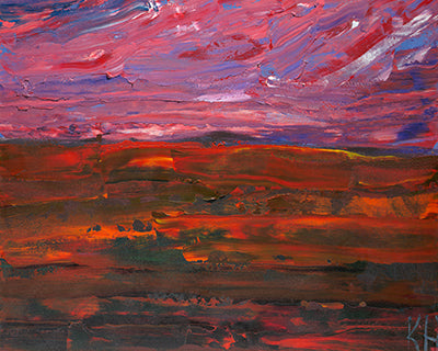 Purple and Red Sky - ArtLifting