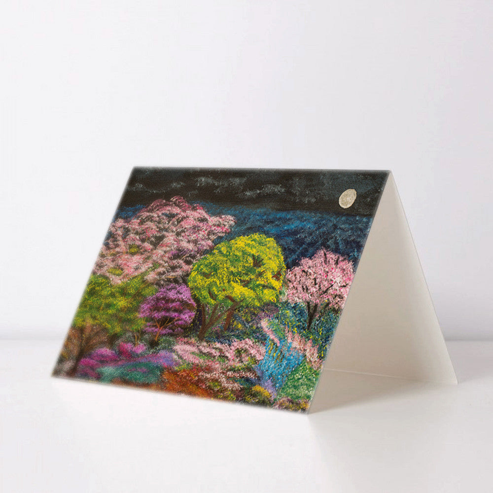 Night Garden Greeting Card