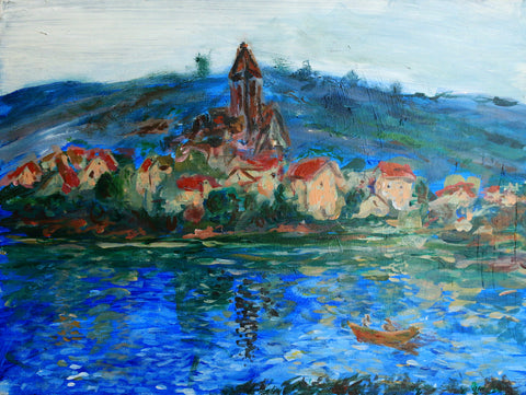 Village on the Water (France) - ArtLifting