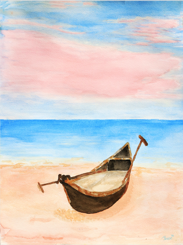 Lonely Boat - ArtLifting