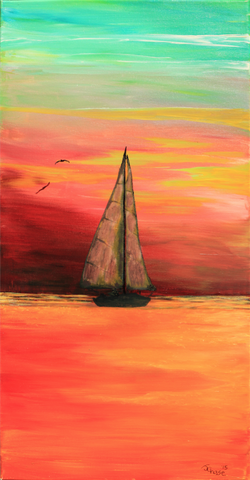 Sunset Sail - ArtLifting