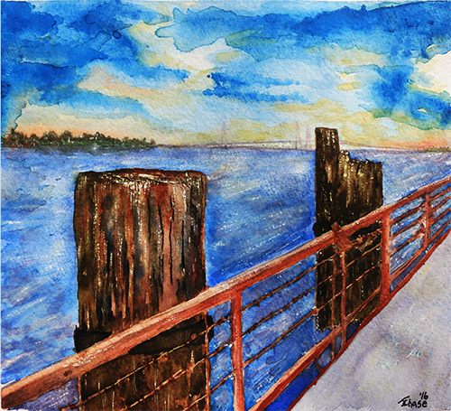 View from a Pier - ArtLifting
