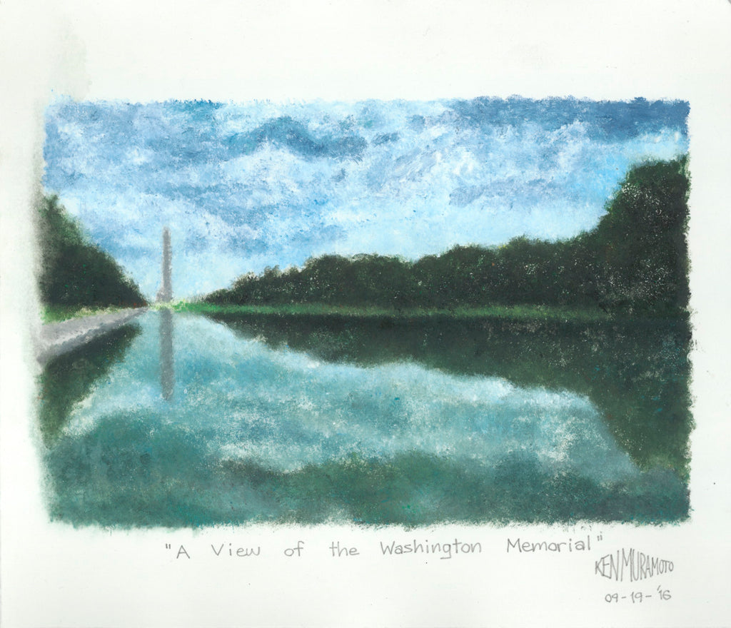A View of the Washington Memorial - ArtLifting