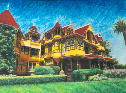 Winchester Mystery House - ArtLifting