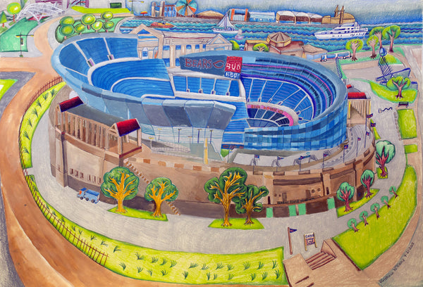 Bears Stadium - ArtLifting