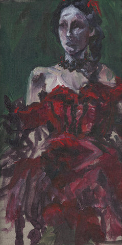 Flamenco Dancer in Red - ArtLifting