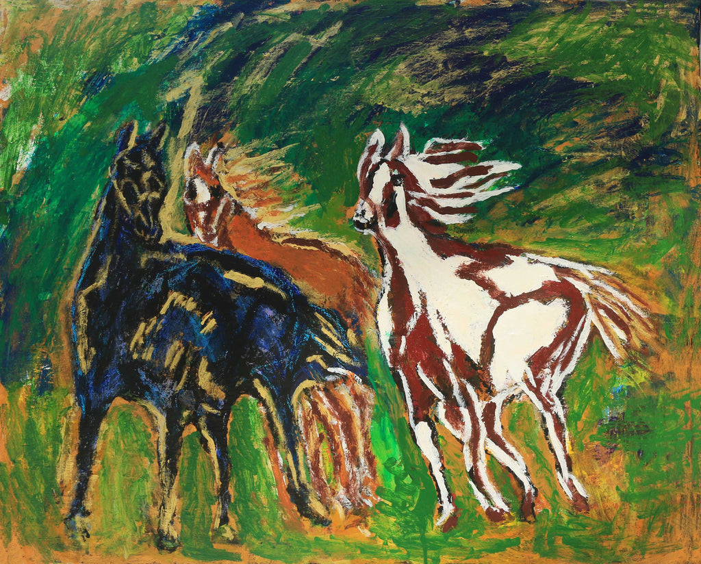 Horses and Gold - ArtLifting