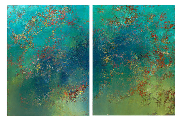Calm Before the Storm (diptych)