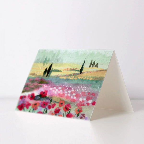 Poppy Keshi Greeting Card