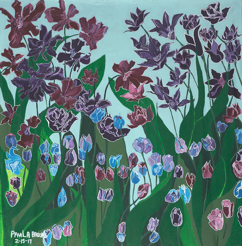 Purple Flowers - ArtLifting