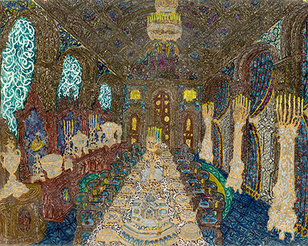 Romanesque Style Dining Chambre - ArtLifting