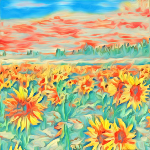 Sunflower Field 2 - ArtLifting