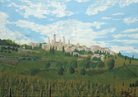 Towers of San Gimignano - ArtLifting
