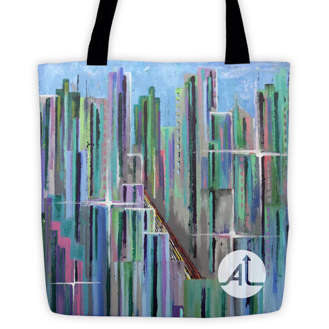Pastel City Tote Bag