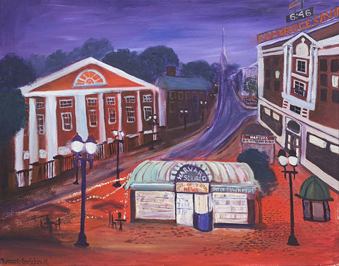 Twilight in Harvard Square - ArtLifting