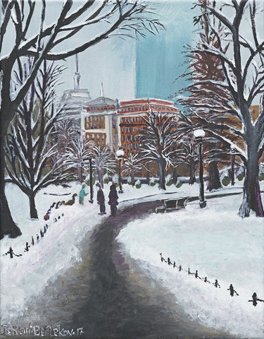 Snowy Day in Boston - ArtLifting
