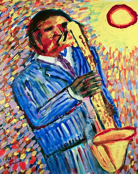 Yellow Saxophone - ArtLifting