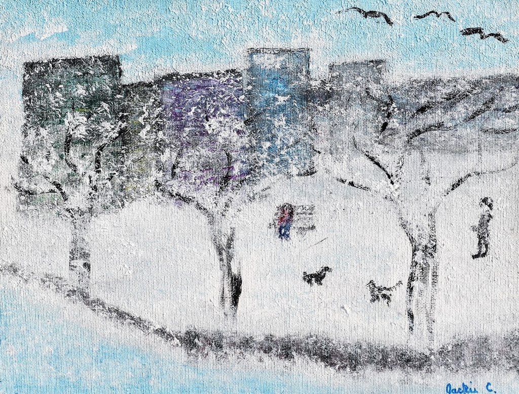 Frolicking in the Flurries - ArtLifting