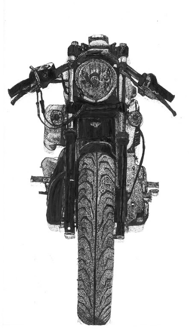 Motorcycle (Front) - ArtLifting