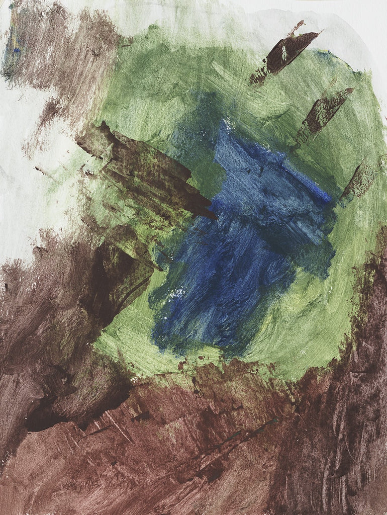 Untitled Green Brown Blue - ArtLifting