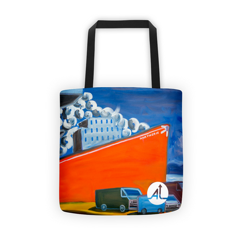 Ballard Ship Canal Tote Bag