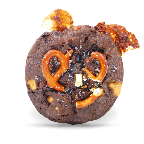 chocolate caramel-pretzel-chocolate chunk (w/peanut butter chips)