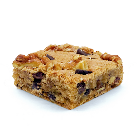 gluten-free chocolate chip-walnut blondie