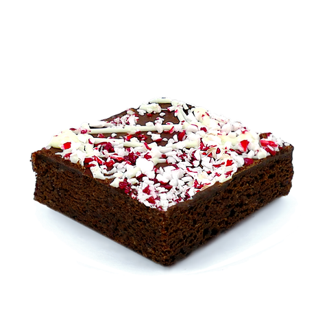 peppermint bark brownie