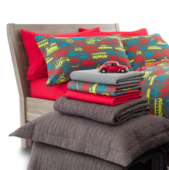 Transportation Design Ultra Microfiber Bed Sheet Set