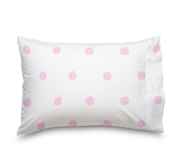 Pink Polka Dot Ultra Microfiber Bed Sheet Set