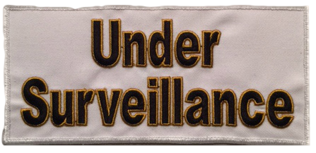 Under Surveillance Large Cloth Patch