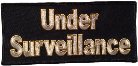 Under Surveillance Large Canvas Patch