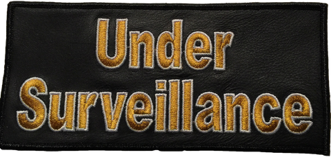 Under Surveillance Large Leather Patch