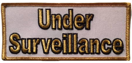 Under Surveillance Small Cloth Patch