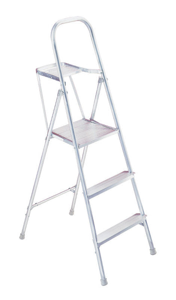 Werner 3-Step Type III Aluminum Platform Ladder w/ Pail Holder 200 lb. Cap - 265
