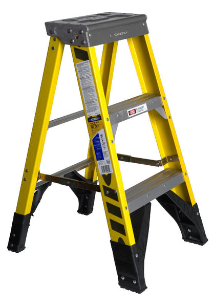 Werner 7300 Series Type IAA Fiberglass Step Ladders (3', 4', 5', 6', 8', 10', 12')
