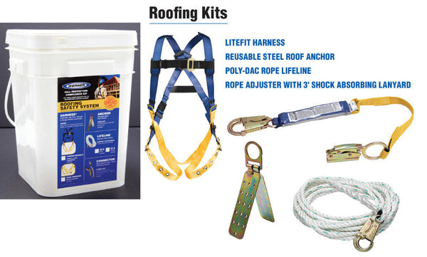 K112101	ROOFING BUCKET 30' TB HARNESS