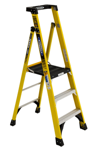 Werner PD7300 Series Type IAA Fiberglass Podium Ladders (3',4',6',8')