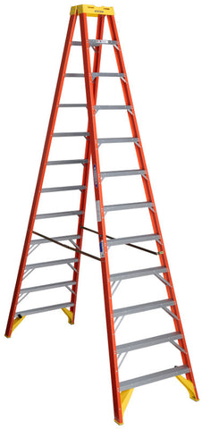 Werner T6212 12 ft Type IA Fiberglass Twin Ladder