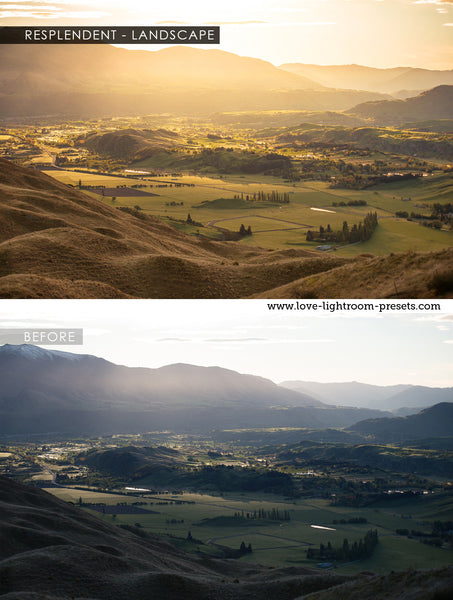 Lightroom presets for landscapes | Resplendent Light maker
