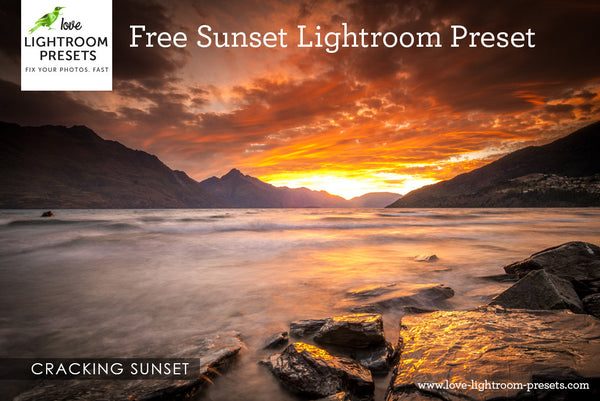 Free Lightroom Preset | Cracking Sunset