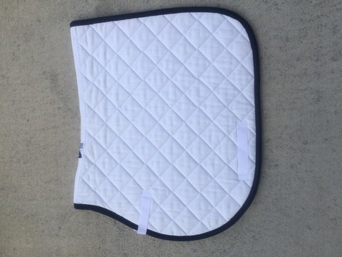 Highpoint All Purpose Saddle Pad White with Navy Trim