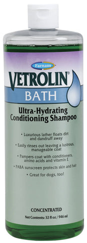 Farnam Vetrolin Bath Ultra-Hydrating Conditioning Shampoo 32 Oz