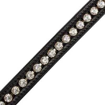 Passier Browband with Big Strass Crystals Black Full Size