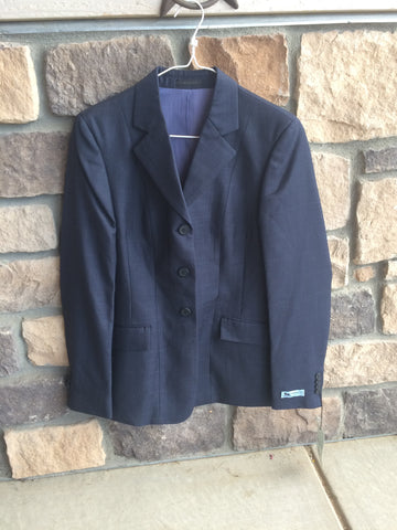 BLEMISHED RJ Classics Show Jacket Navy Plaid 2 Long Regular $169 D8251